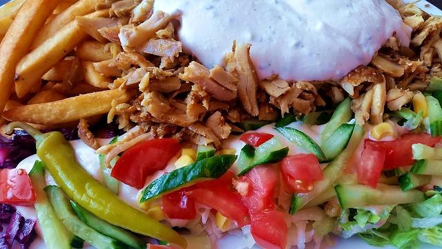 Przepis na kebab na talerzu